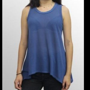 Coin 1804 asymmetrical raw hem tank top